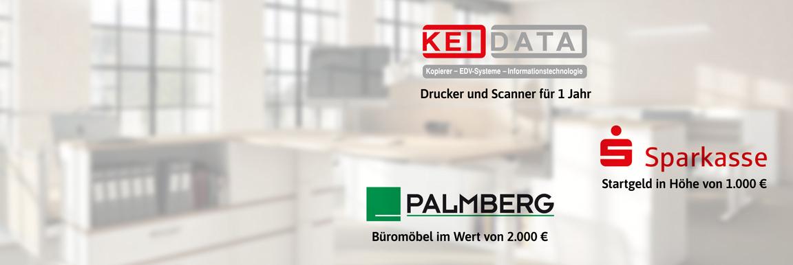 Extras für Gründer im TGZ - Services von PALMBERG und KEI DATA